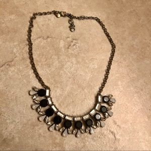 J. Crew Black and White Gemstone Necklace